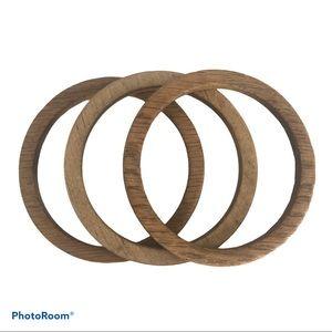 Three Wood Women's Bracelets Bangle